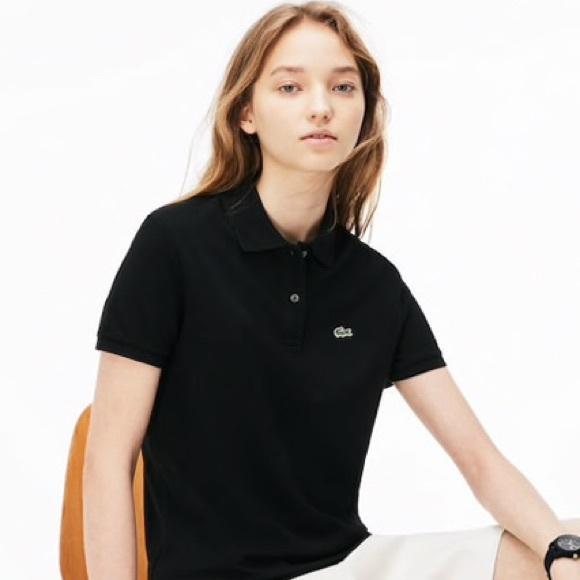 Women's lacoste black polo